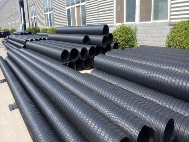 市政排污管 PE钢带增强波纹管