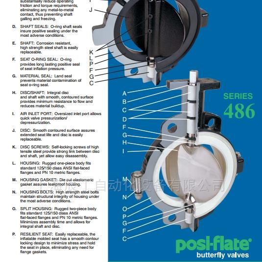 美国Posi-flate蝶阀支持技术选型售后安装