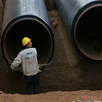 DN400預制直埋式保溫管管道管坑的開挖與回填