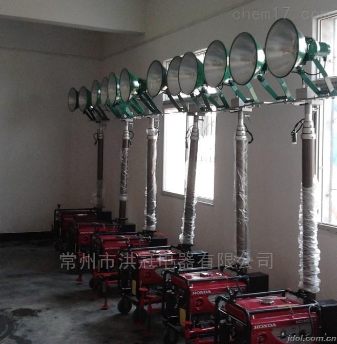 2x1000W移动照明工作灯3KW汽油发电机