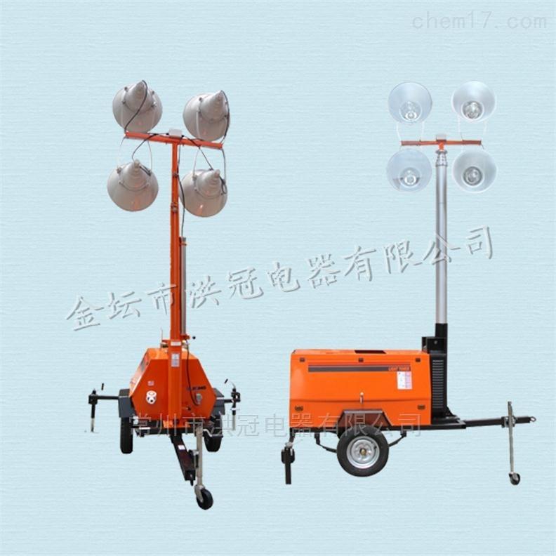 9米手摇升降移动照明灯塔工程应急照明车