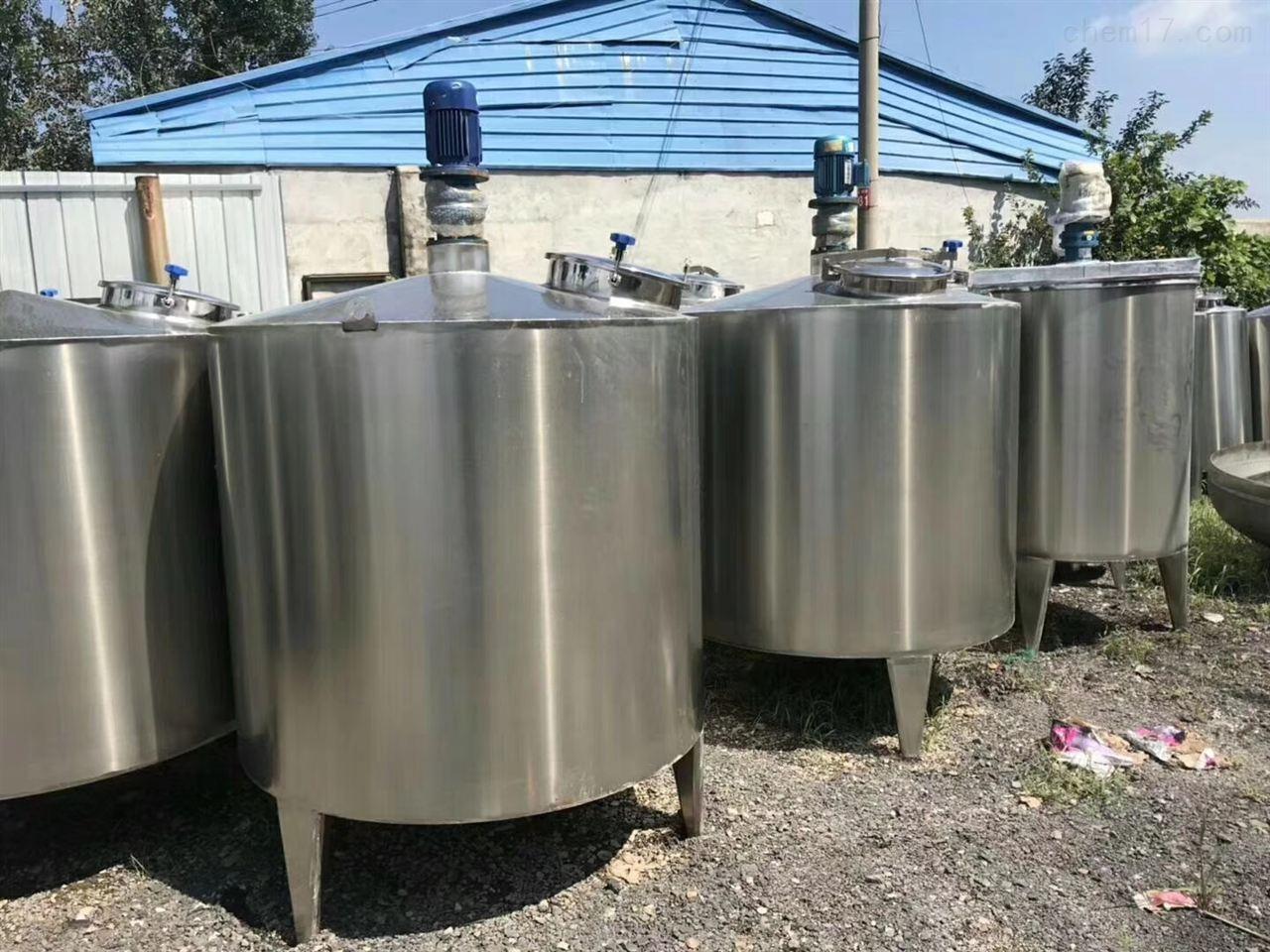 回收二手不锈钢配料罐 制药厂配料搅拌罐
