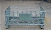 折叠式中空板铁笼折叠式中空板仓储笼 移动仓储铁笼型号