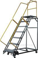 手摇移动式登高梯石排手摇移动式登高梯,登高平台梯