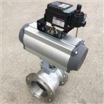 VQ647F/QV647H氣動V型調節球閥