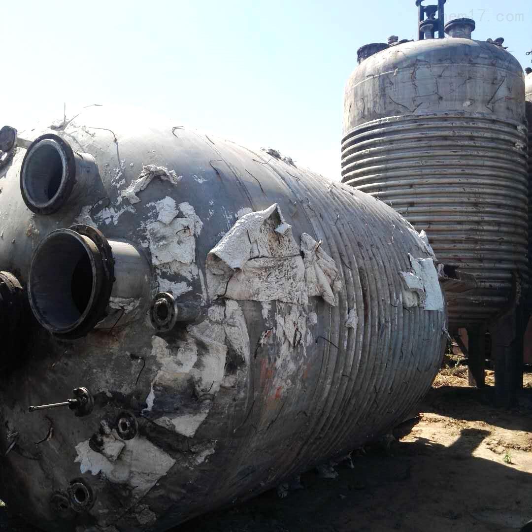 转让16吨16000升二手内外盘管不锈钢反应釜
