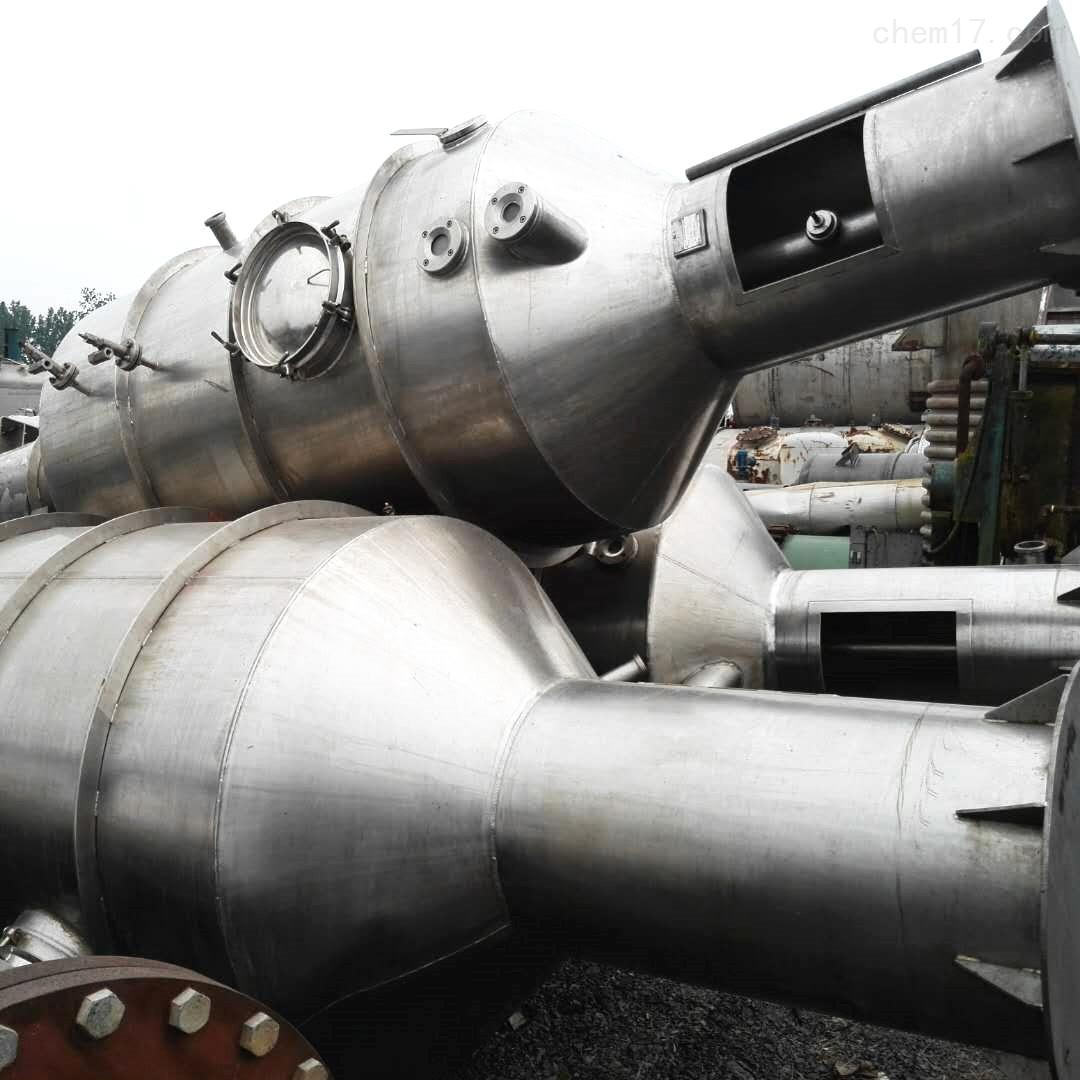 江苏工厂处理3000升3吨二手三效降膜蒸发器