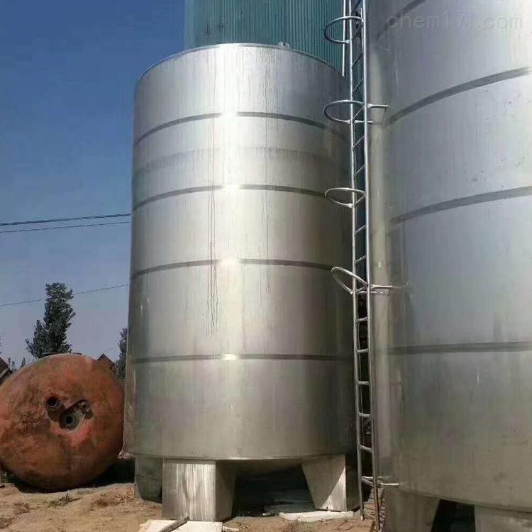 工厂紧急转让60立方二手不锈钢储罐