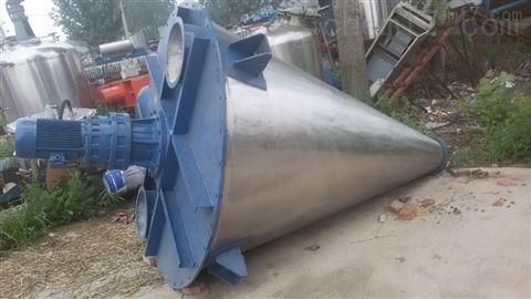 回收闲置二手3吨不锈钢双锥混合机