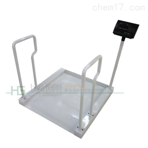 不锈钢白色称重轮椅秤,连大屏幕轮椅称