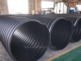 钢骨架聚乙烯钢带塑料波纹管道 地埋钢带排污管