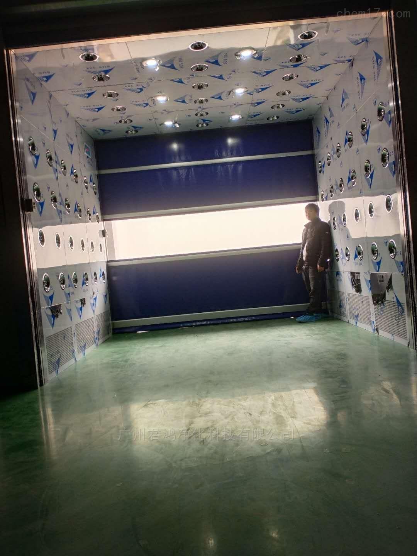 番禺君鸿净化直通型隧道式风货淋室安装