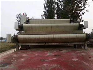 这里有二手宽2米长7米泥带式压滤机处理几台