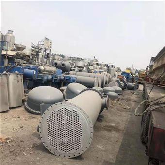低价出售二手110平方不锈钢列管式冷凝器