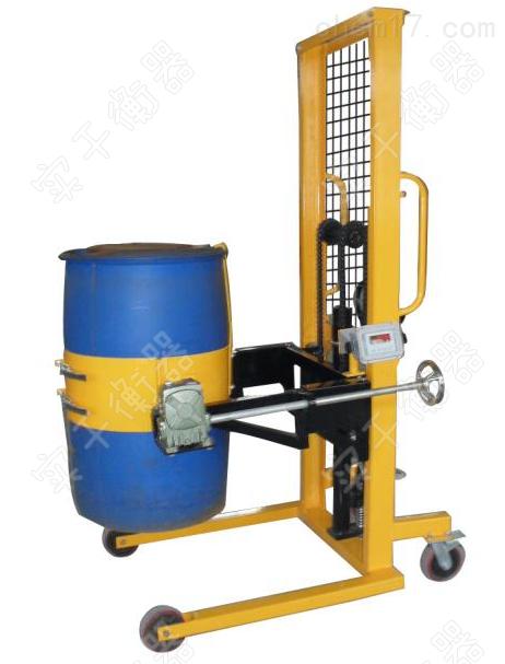 夹抱式倒桶车秤,化工厂用半自动倒桶秤