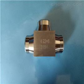 304不锈钢插入焊接式三通中间接头