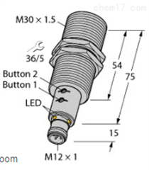 RU130U-M30E-LIU2PN8X2T-H1德国图尔克TURCK直反式传感器
