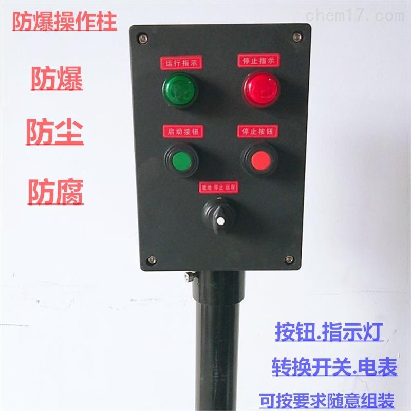 BXK8030防爆防腐自锁按钮带灯控制设备箱