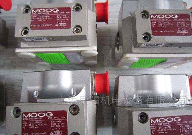 美国MOOG伺服阀D662-4884上海到货