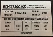 DONGAN東安點火變壓器A06-SA6價格