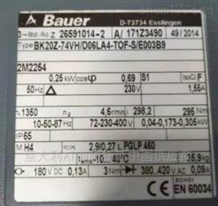 BK20Z系列Bauer保尔电机德国源头货