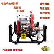 手抬机动消防泵汽油机手起动高压自吸泵