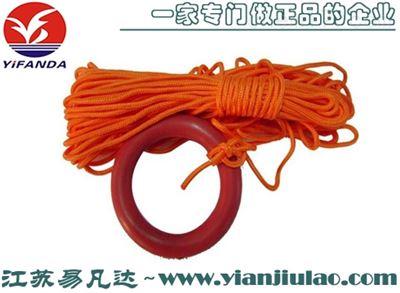 安卓版圈上的安卓版绳长度30米浮索扶绳可加塑壳