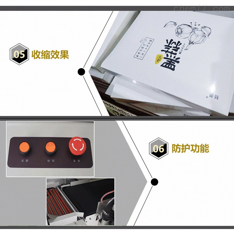 全封热收缩膜包装机型号与配置区别