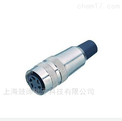宾德M16孔头连接器带电缆夹