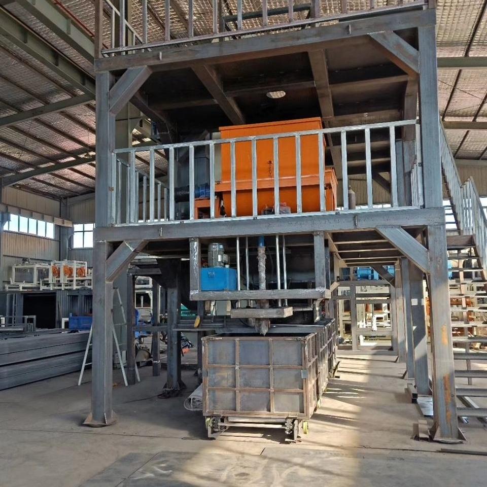 震动式匀质板设备生产工艺过程