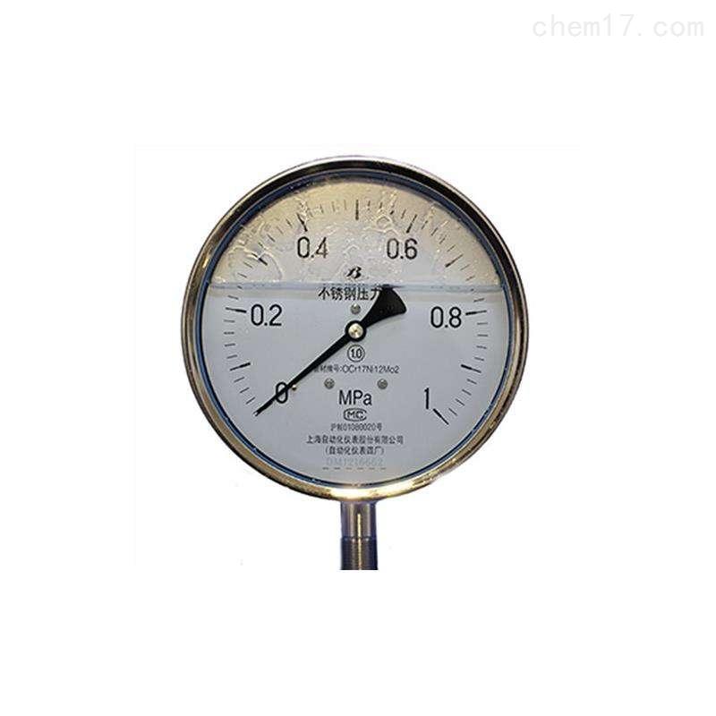 不锈钢压力表Y-50B