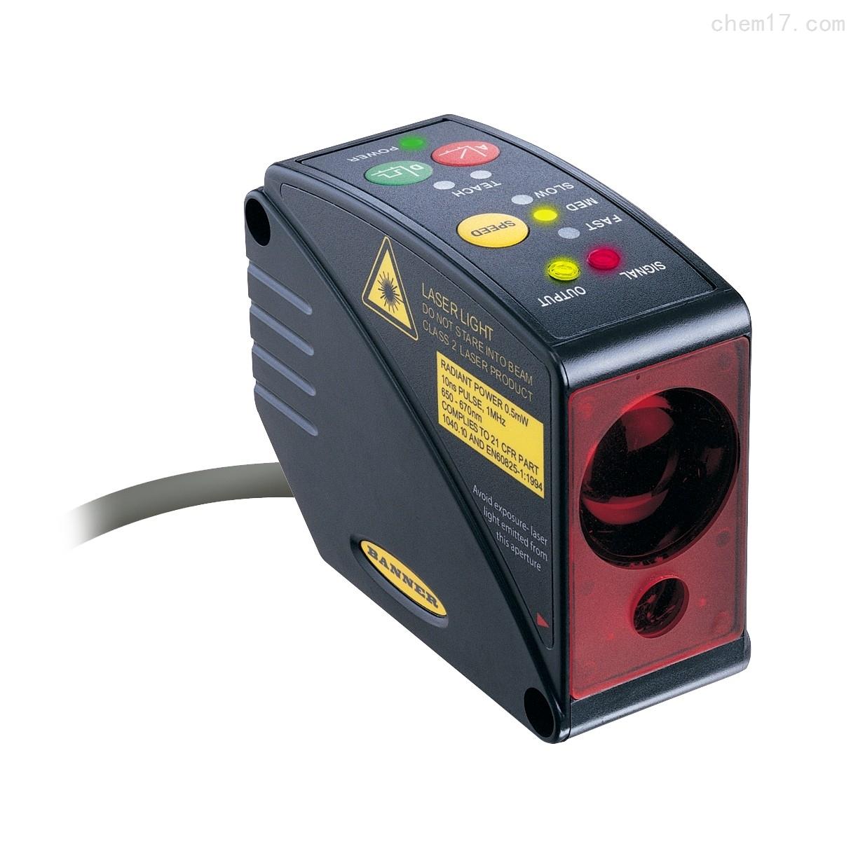 美国邦纳BANNER50米量程飞行时间激光传感器