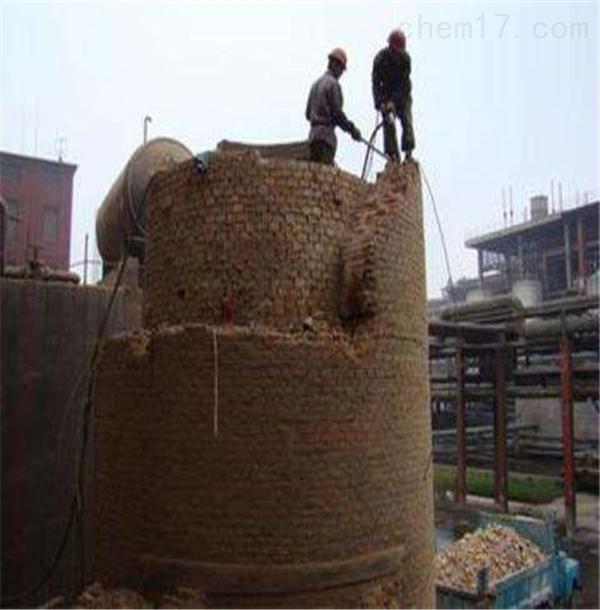 海口市人工拆除废弃烟囱公司案例佳
