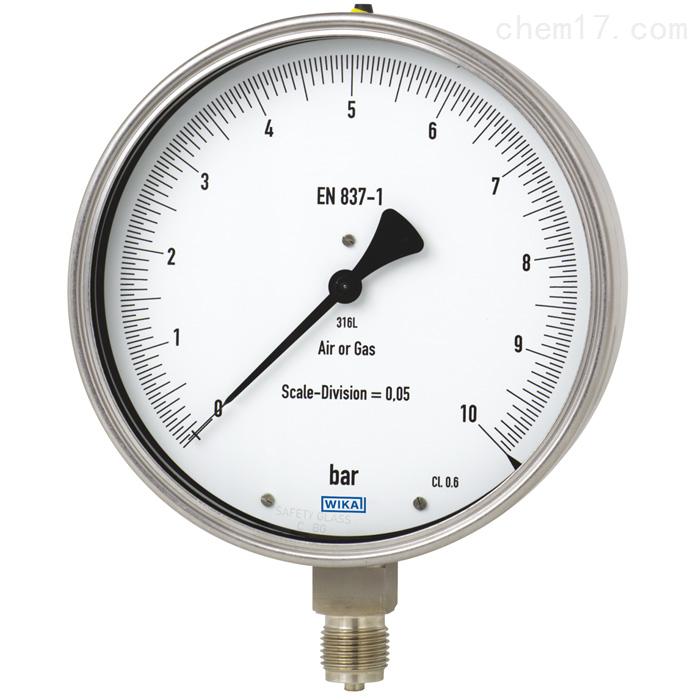 德国威卡WIKA不锈钢材质检测仪压力表