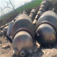 闲置二手四效30吨钛材降膜蒸发器出售