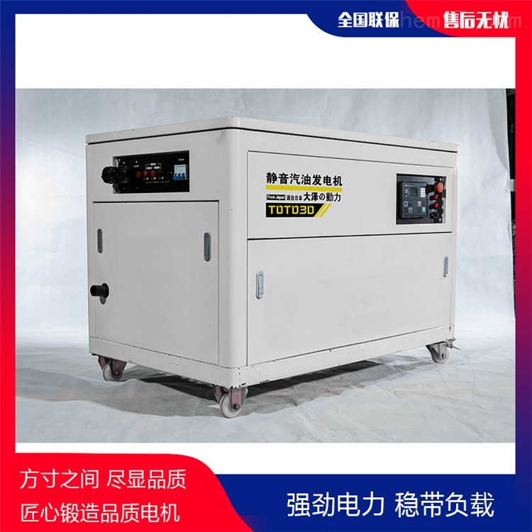 国网投标用50KW静音汽油发电机