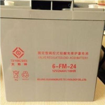 6-FM-24AH 12V24AH太阳神6-FM-24AH 12V24AH 铅酸免维护蓄电池