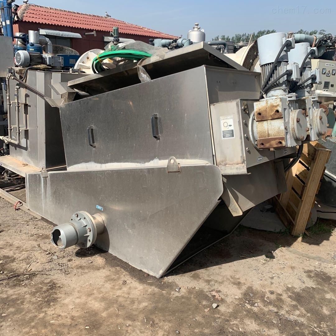 高价回收二手叠螺式污泥脱水机