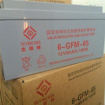 6-GFM-65 12V65H太阳神6-GFM-65 12V65H铅酸免维护蓄电池