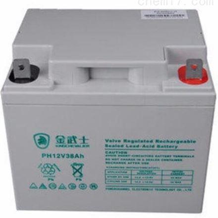 金武士蓄电池12V38AH 铅酸免维护 UPS专用