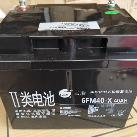 三瑞蓄电池6FM40-X区域代理