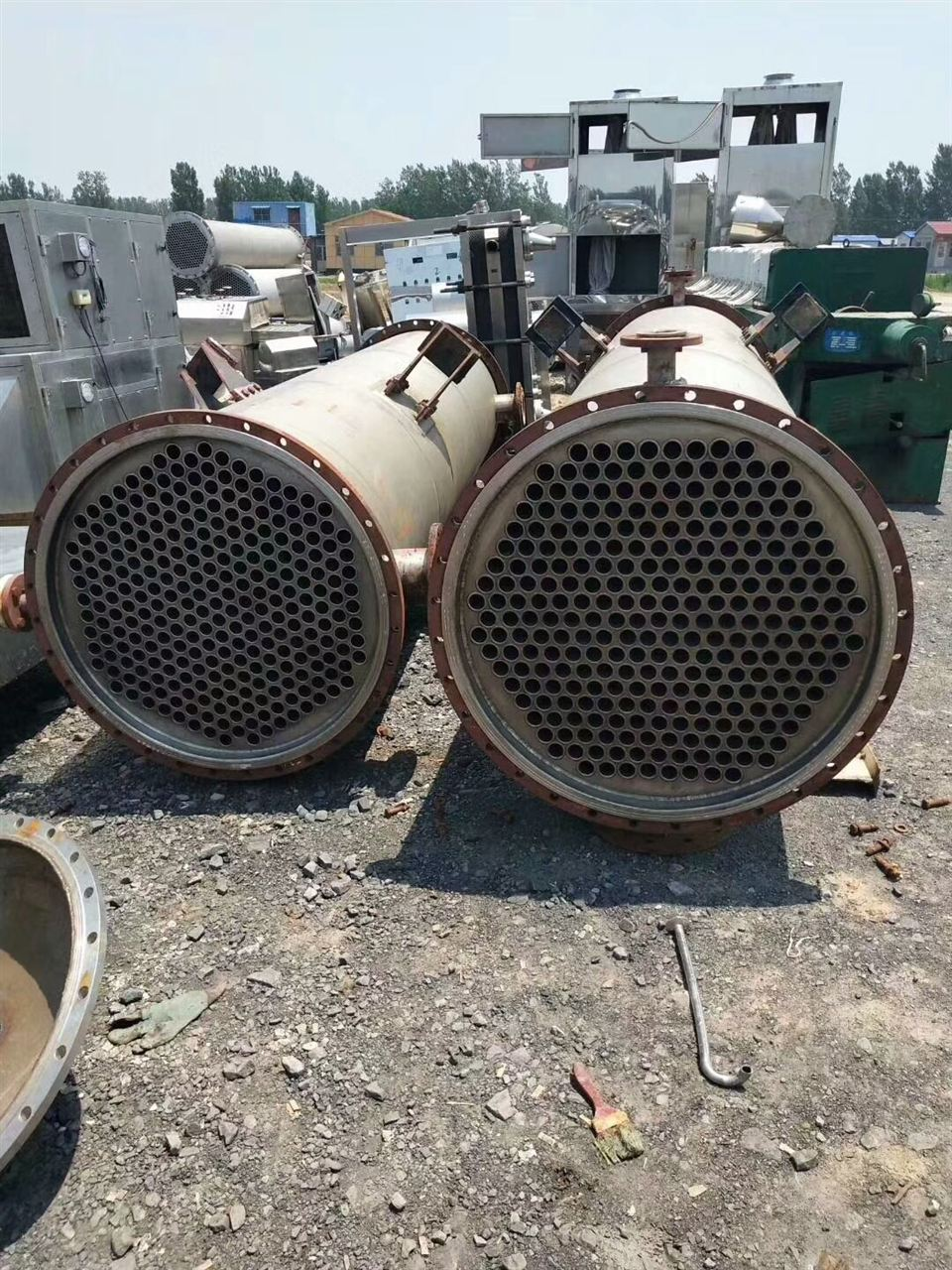 现场高价回收二手钛材质冷凝器