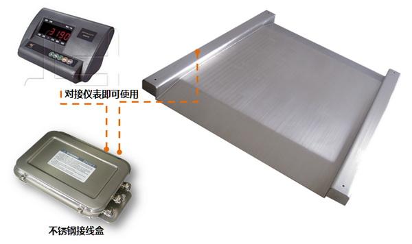 工厂用单层不锈钢电子小地磅电子秤1T