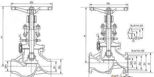 低温真空隔离截止阀结构图