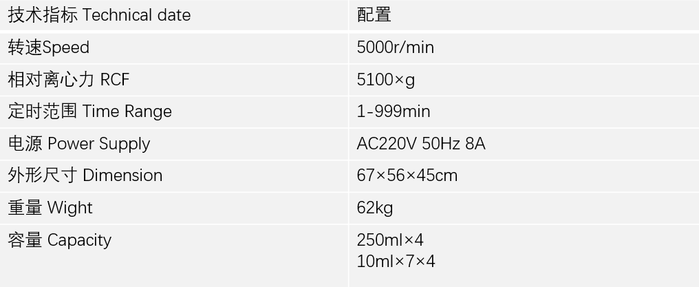 DT5-4低速离心机技术参数